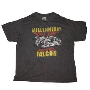 Star Wars Millennium Falcon Men's T-shirt 2x